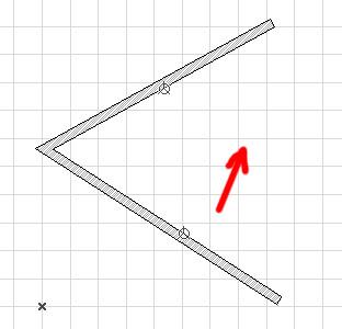 Построение круглой стены по двум касательным и точке